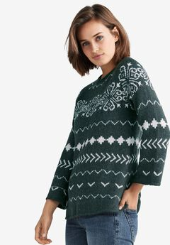 Patterned A-line Sweater by ellos®,