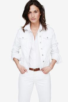 Cropped Denim Jacket by ellos®, WHITE