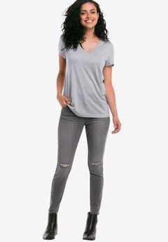 Ripped Knee Skinny Jeans by ellos®,