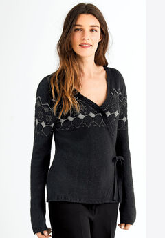Fair Isle Wrap Cardigan by ellos®,