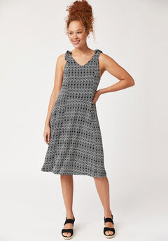 Tie-Shoulder Dress,