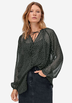 Tie-Neck Sheer Tunic by ellos®,
