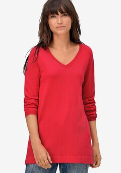 V-Neck Sweater Tunic,