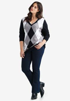 V-neck Argyle Sweater by ellos®,