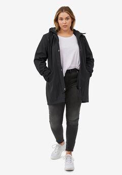 Bonded High-Low Jacket, BLACK