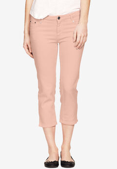 Stretch Slim Capris by ellos®, PALE BLUSH