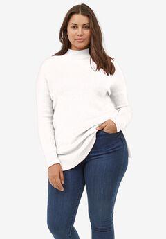 Mockneck Tunic Sweater,