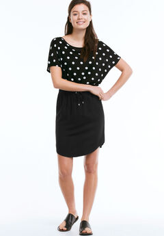 Shirttail Hem Skirt by ellos®, BLACK
