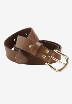 Leather Belt, PECAN BROWN