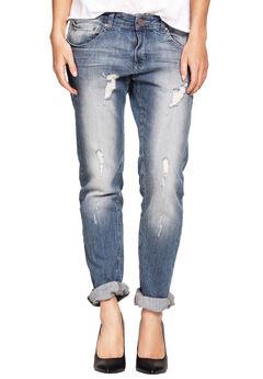 Boyfriend Jeans by ellos®, DISTRESSED