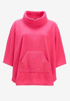 Cowl Neck Fleece Poncho by ellos®,