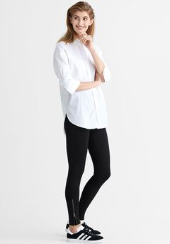 Ankle Zip Ponte Leggings by ellos®,