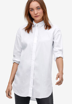 Relaxed Button Front Tunic Shirt by ellos®,