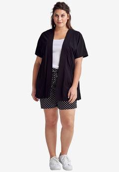 03651a97cc5a33 Short Sleeve Open Knit Cardigan by ellos®, ...