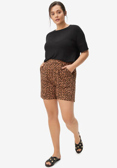 Pull-On Knit Shorts With Pockets,