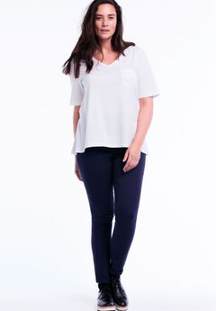 Slim Stretch Twill Jeggings by ellos®, NAVY