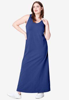 Tank Knit Maxi Dress, RICH INDIGO