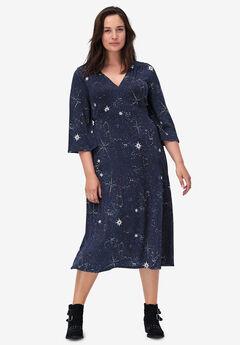 Empire Waist Midi Dress by ellos®,