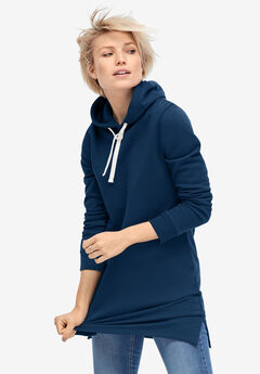 Hooded Sweatshirt Tunic,