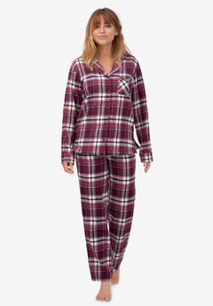Plaid Flannel Pajama Set, MIDNIGHT BERRY PLAID