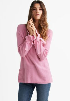 Tie-Sleeve Sweater by ellos®,