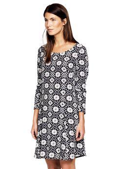 Printed Long Sleeve A-line Dress by ellos®,