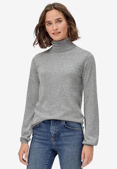 Blouson Sleeve Turtleneck Pullover by ellos®,