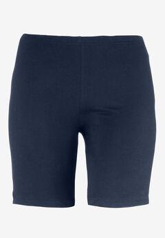 Stretch Knit Bike Shorts, NAVY