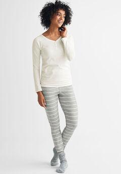 Henley One-piece Pajamas by ellos®  af5bf85bc