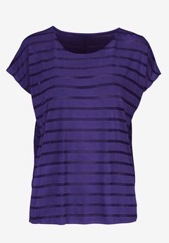 Sheer Striped Tee by ellos®,