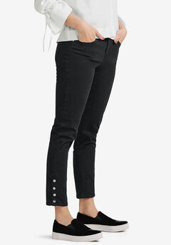 Snap-Hem Pants by ellos®, BLACK