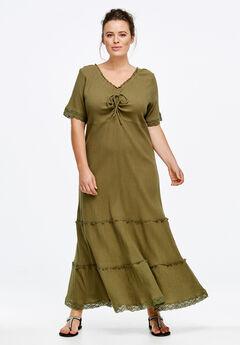 Gauze Maxi Dress by ellos®,
