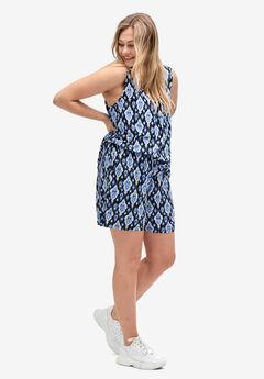 Drapey Shorts by ellos®, MIDNIGHT BLUE PRINT