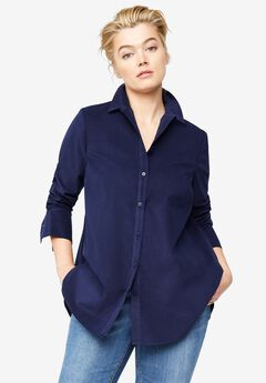 Corduroy Button Front Tunic by ellos®,