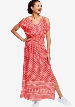 Border Print Maxi Dress by ellos®,