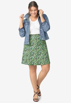 Print A-Line Skirt,