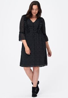 Miranda Ruffle-Trim Dress by ellos®,