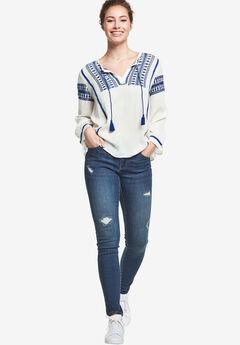 Distressed Skinny Jeans by ellos®,