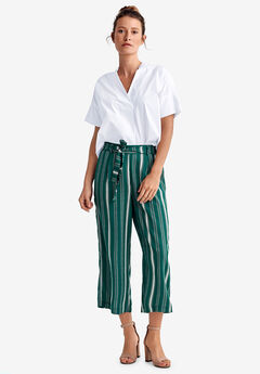 Wide-Leg Cropped Pants by ellos®,