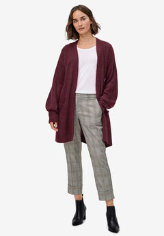 Blouson Sleeve Open Cardigan,