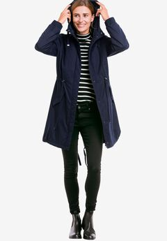 Twill Hooded Anorak by ellos®, NAVY