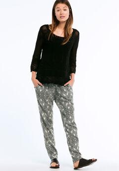 Woven Soft Pants by ellos®, BLACK PAISLEY PRINT