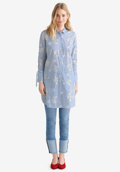 de0aca75a371a Tie-Sleeve Shirt Tunic by ellos®
