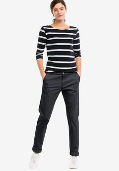 Stretch Chinos by ellos®, BLACK