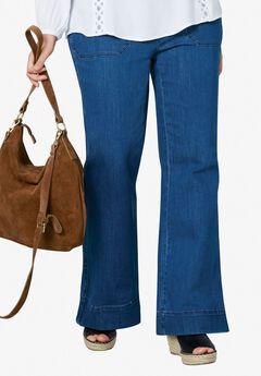 High-Waist Wide Leg Jeans by ellos®,