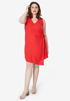 Side-Tie A-Line Dress by ellos®,