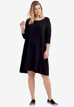Chelsea Knit Dress by ellos®, BLACK