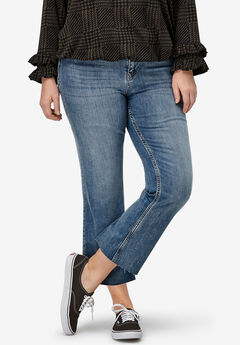 Crop Bootcut Jeans by ellos®, LIGHT STONEWASH