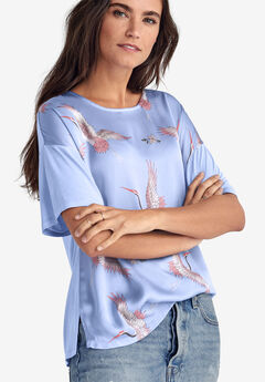 Satin-Front Tee by ellos®,