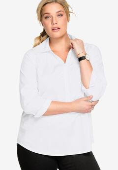 Stretch Popover Shirt by ellos®,